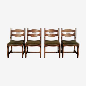 Set de 4 chaises Guillerme et Chambron