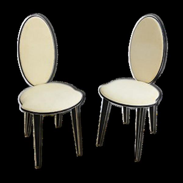 Paire de chaises par Umberto Mascagni pour Harrods, années 1950