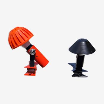 2 lampes vintage à pinces
