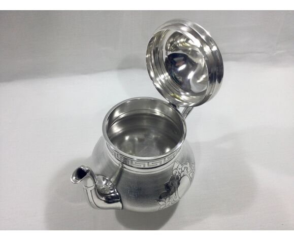Service à thé café modèle bambou, Christofle