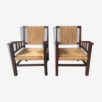 Paire de fauteuils 1930 de Francis Jourdain