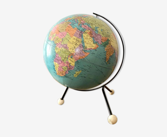 Globe terrestre mappemonde taride vintage tripode
