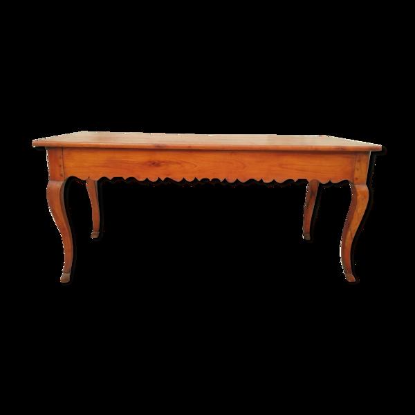 Selency Table de ferme Louis XV en merisier 19ème