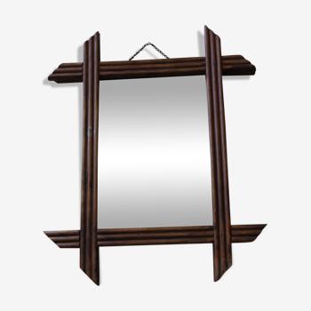 Miroir rectangulaire en bois 33 X 27 cm