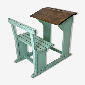 Vintage school desk 30's