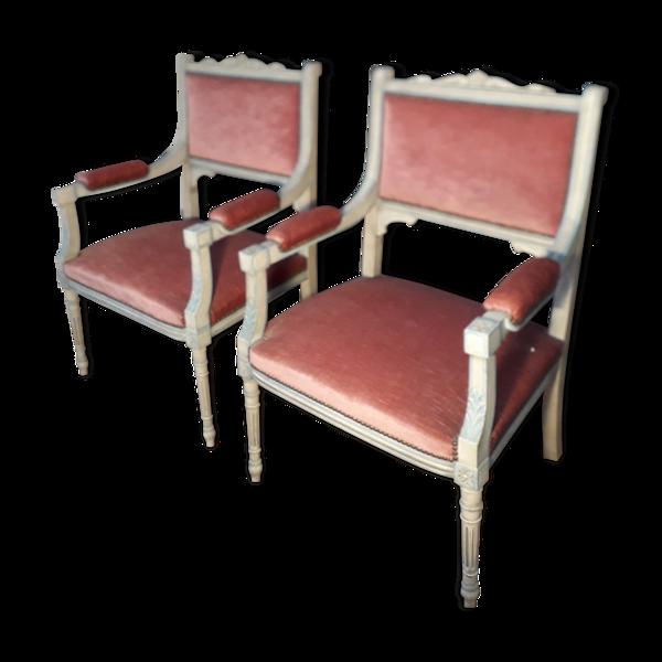 Paire de fauteuil de style Louis XVI