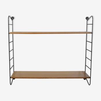 Scandinavian wall shelf, wood, 1960