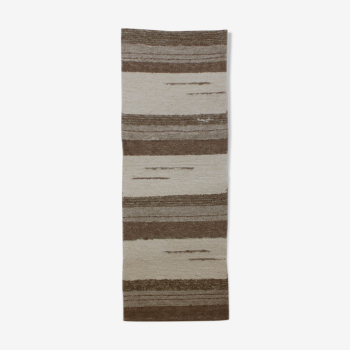 Tapis diego moka & blanc 65 x 170 cm