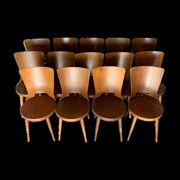 Selency Suite de 14 chaises bistrot baumann dove