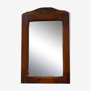 Miroir ancien art déco 35x55cm