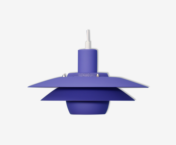 Danish hanging lamp in purple, 1980s