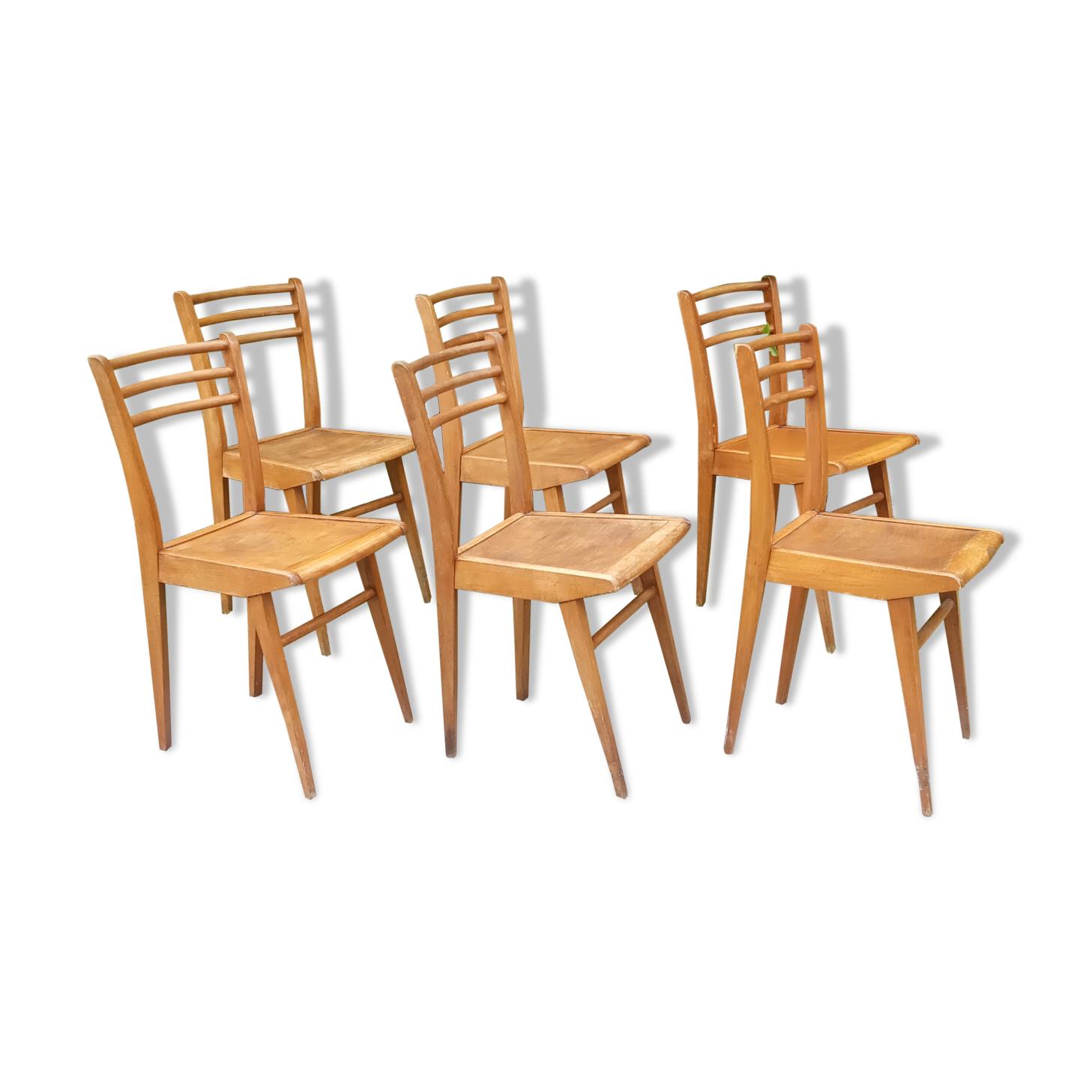 Lot de 6 chaises de bistrot