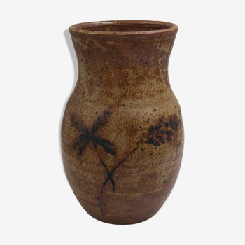 Vase en grès artisanal