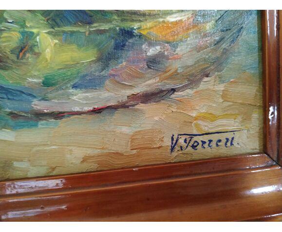 Nature morte à la gargoulette de Victor Ferreri huile sur panneau