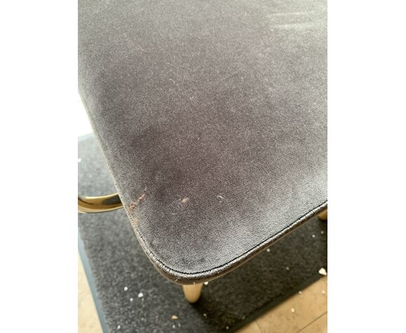 Chaise cannage gris chic avec accoudoirs Red Edition