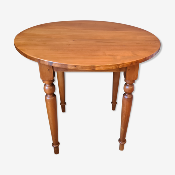 Table ronde merisier