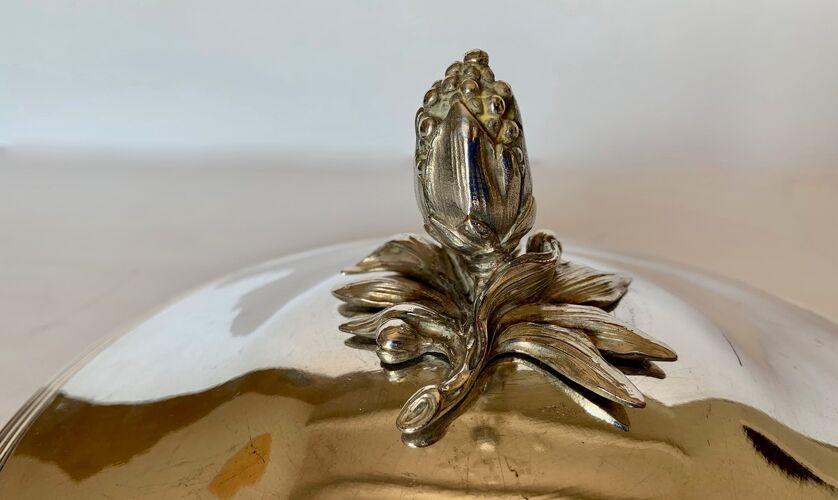 Soupière légumier de Christofle en métal argenté