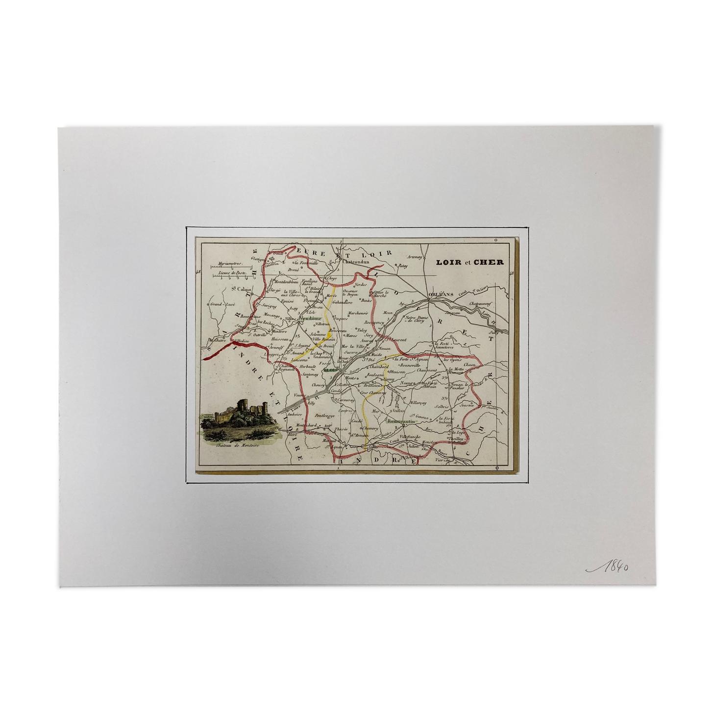Carte ancienne du Loir-et-Cher