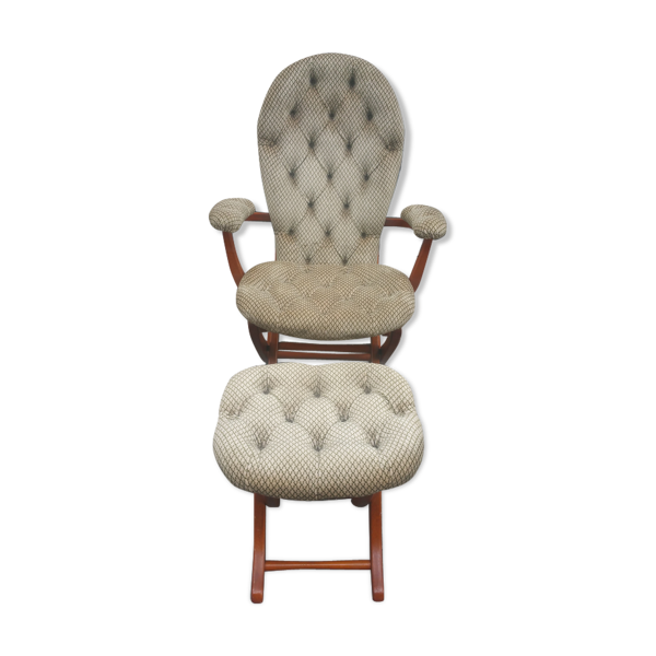 Fauteuil relax Chesterfield avec repose pied