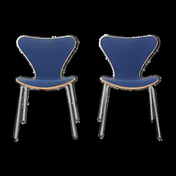 Selency Paire de chaises «Butterfly» d'Arne Jacobsen pour Fritz Hansen, Danemark 1989