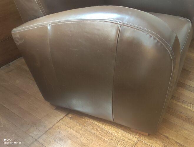 Paire de fauteuils club vintage