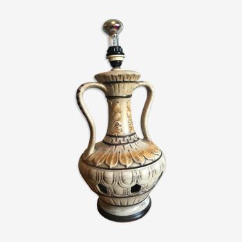 Pied de lampe en céramique