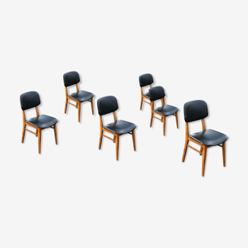 Série 6 chaises scandinaves.