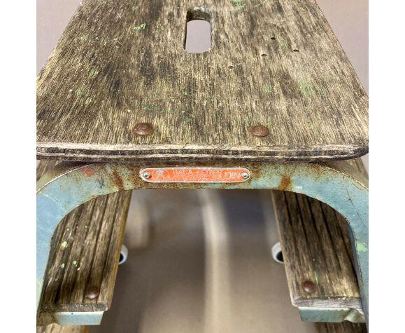 Escabeau industriel 1950 roulant