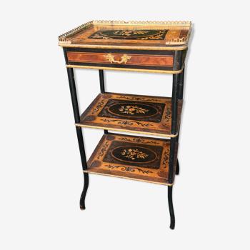 Table décorative marquetée