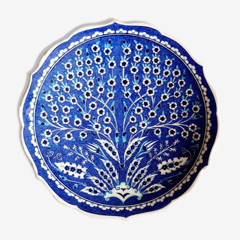 Assiette murale bleu Turquie