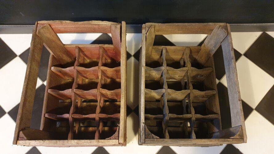Lot de 2 Caisses en bois  (possible à l'unité)