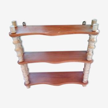 Etagère bobines en bois