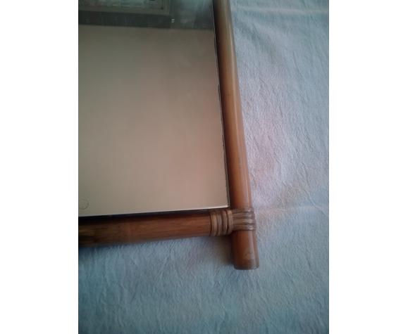 Miroir avec tour bois et osier