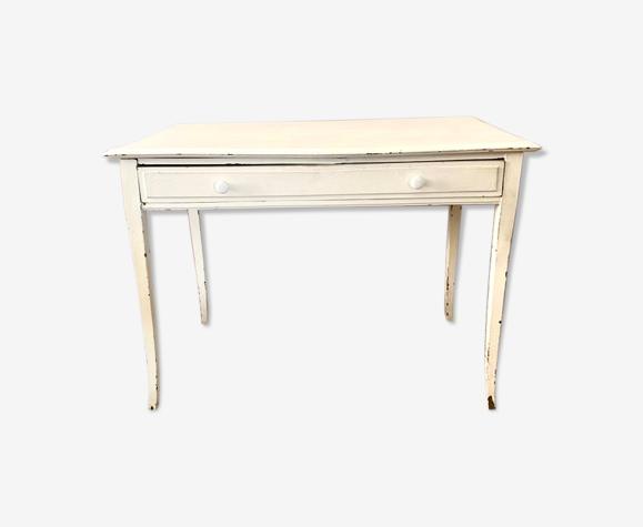 Bureau console en bois vintage