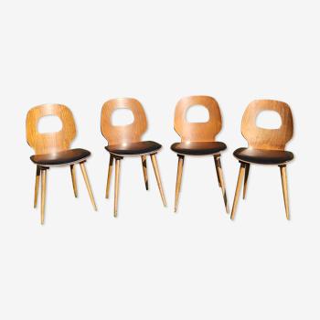 Lot de 4 chaises  Fourmi par Baumann