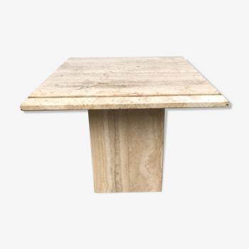 Beige traverine coffee table