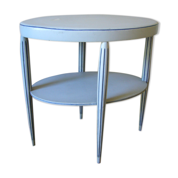 Table d'appoint ancienne ovale à quatre pieds