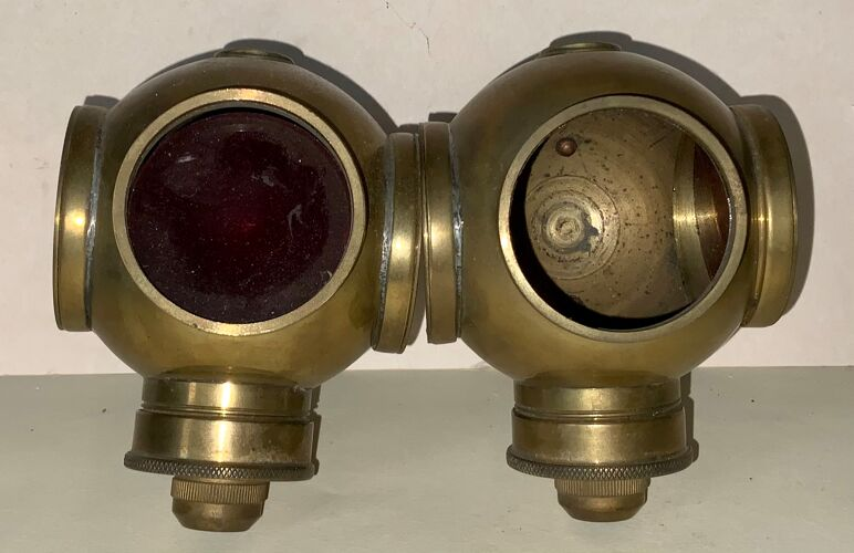 Lampes de fiacre XIX siècle