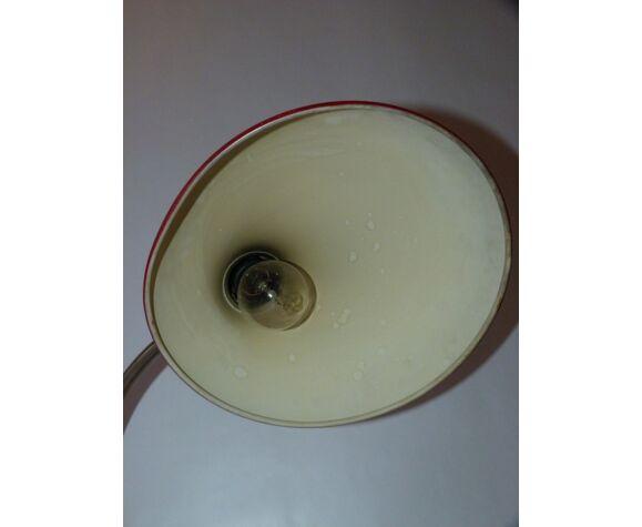 Lampe de bureau Kaiser Idell rouge du milieu du siècle