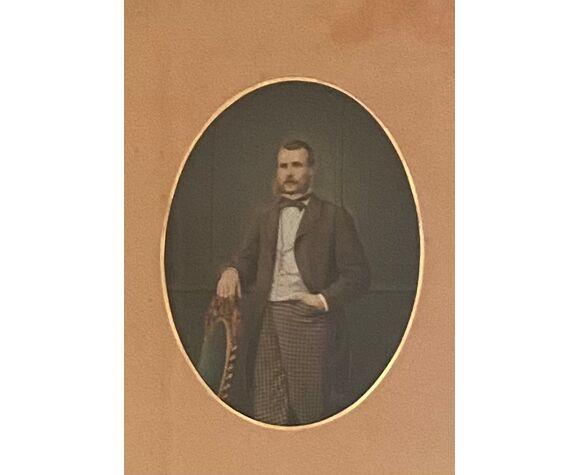 Daguerréotype et son cadre de 36 cm x 44 cm