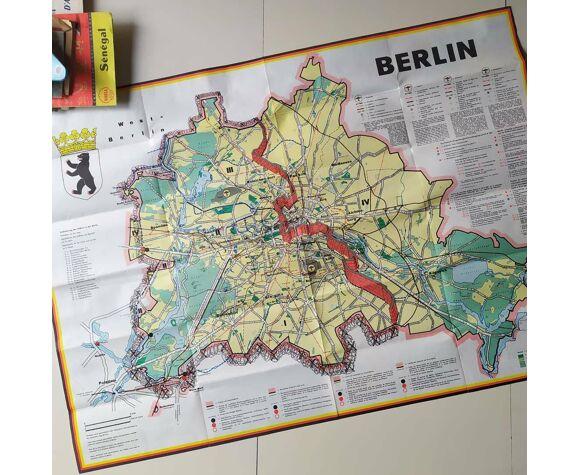 Carte vintage de Berlin année 1960