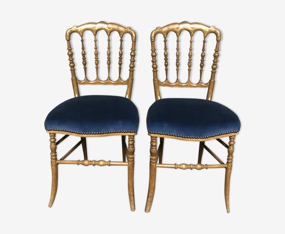Paire de chaises barrettes Napoléon III