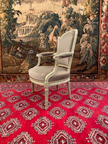 Louis XVI-era armchair Stamp Nicolas Denis Delaisement 18th century