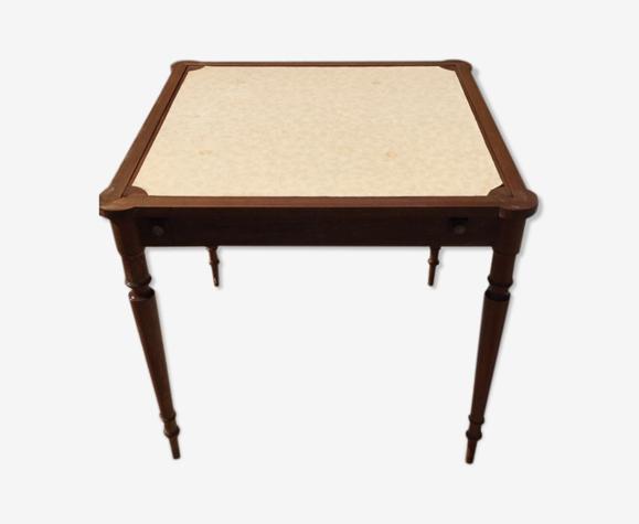 Table de jeu de cartes carrée en bois