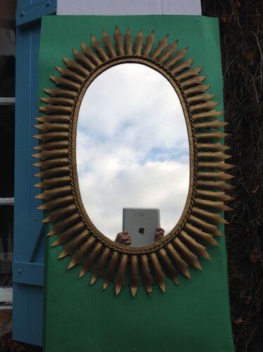 Miroir soleil vintage en métal - 51x70cm