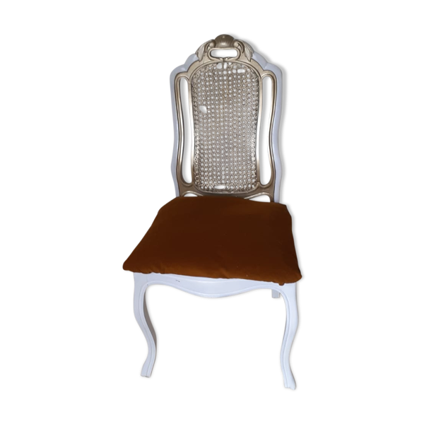 Chaise cannée style Louis Philippe