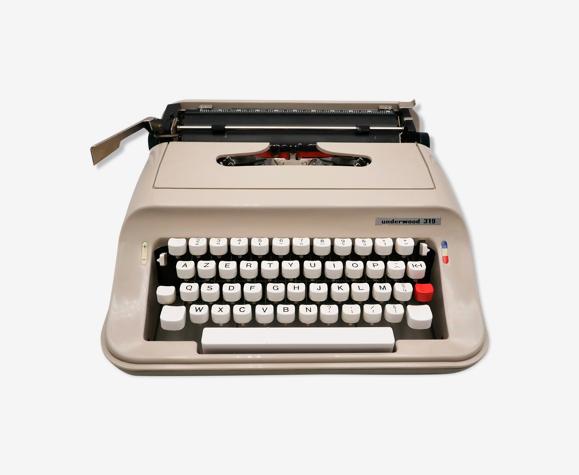 Machine à écrire underwood 319 beige révisée ruban neuf