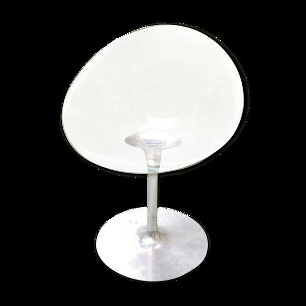 Fauteuil pivotant transparent en plexiglas