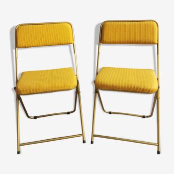 """Paire de chaises vintage """" lafuma"""""""