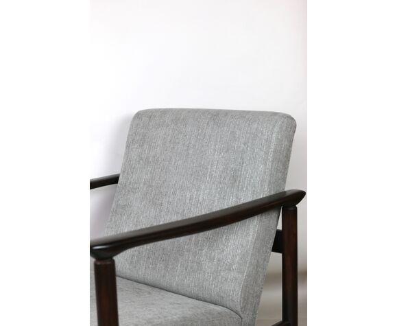 Light Grey Silver Armchair by Edmund Homa GFM-142, 1970s